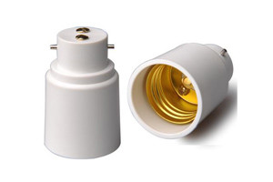 B22 TO E27 LAMP HOLDER ADAPTOR PLASTIC