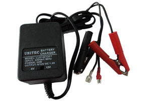 """UNITEC"" LEAD ACID BATTERY CHARGER 6-12V DC 1200MA"