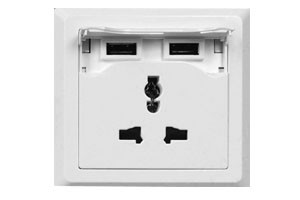 USB UNIVERSAL WALL BASE SOCKET