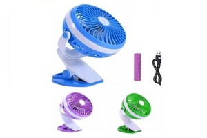 rechargeable desk clip fan