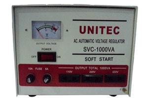 UNITEC AUTOMATIC VOLTAGE REGULATOR SVC-1000WATT