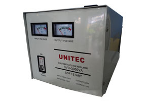 UNITEC AUTOMATIC VOLTAGE REGULATOR SVC-3000WATT