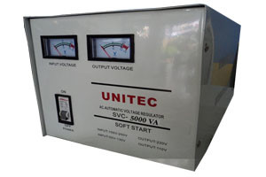 UNITEC AUTOMATIC VOLTAGE REGULATOR SVC-5000WATT