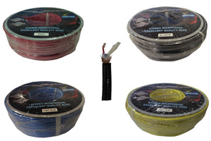 STEREO MICROPHONE CABLE -FOUR COLOURS