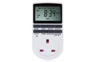 digital mains timer plug socket