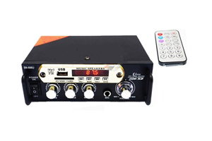 MINI STEREO AMPLFIER WITH USB FM BT