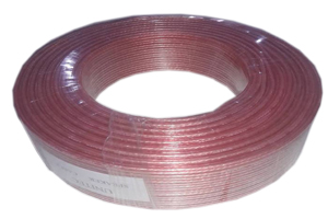 Speaker wire pink with red line